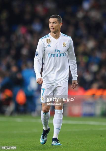 Cristiano Ronaldo of Real Madrid CF looks on during the UEFA Champions League group H match between Real Madrid and Borussia Dortmund at Estadio...