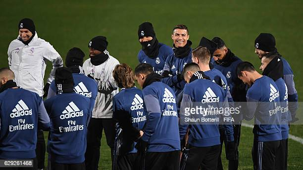 Cristiano Ronaldo of Real Madrid during a training session at Mitsuzawa Football Stadium on December 12, 2016 in Yokohama, Japan.