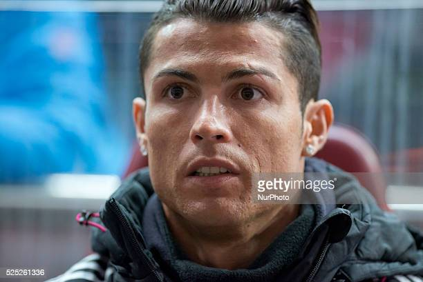 Cristiano Ronaldo of Real Madrid during the Copa del Rey Round of 16 First Leg match between Club Atletico de Madrid and Real Madrid at Vicente...