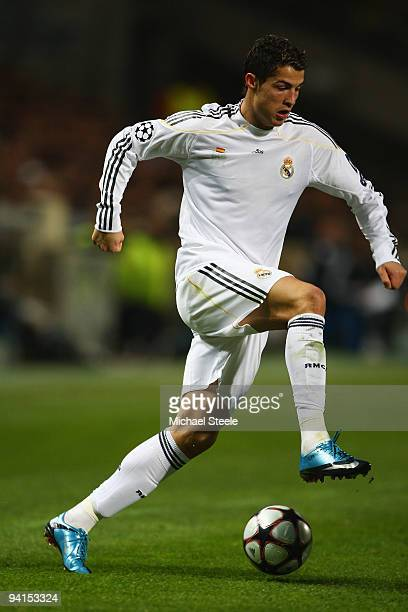 Cristiano Ronaldo of Real Madrid during the Marseille and Real Madrid UEFA Champions League Group C match at the Stade Velodrome on December 8 2009...