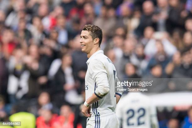 Cristiano Ronaldo of Real Madrid during the match Real Madrid vs RCD Espanyol a La Liga match at the Santiago Bernabeu Stadium on 18 February 2017 in...