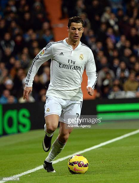 Cristiano Ronaldo of Real Madrid during the Spanish La Liga soccer match between Real Madrid and RC Celta at the Santiago Bernabeu stadium in Madrid...