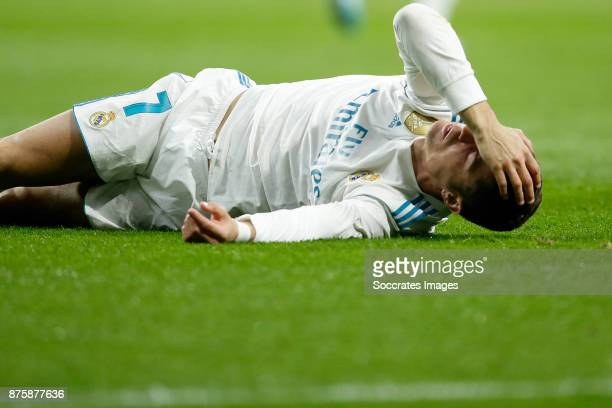 Cristiano Ronaldo of Real Madrid during the Spanish Primera Division match between Atletico Madrid v Real Madrid at the Estadio Wanda Metropolitano...