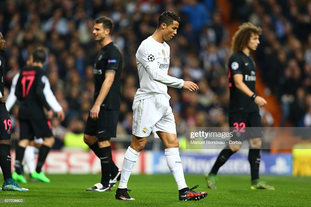 Football - UEFA Champions League - Real Madrid CF vs Paris Saint-Germain : News Photo
