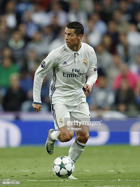 Cristiano Ronaldo of Real Madrid during the UEFA Champions League group F match between Real Madrid and Sporting Club de Portugal on September 14...