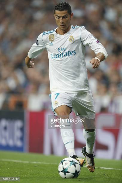 Cristiano Ronaldo of Real Madrid during the UEFA Champions League group H match between Real Madrid and APOEL FC on September 13 2017 at the Santiago...