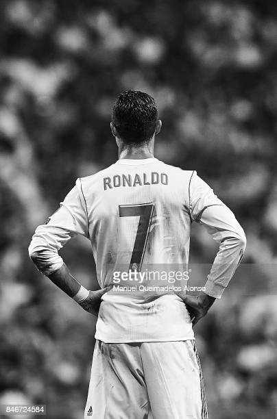Cristiano Ronaldo of Real Madrid during the UEFA Champions League group H match between Real Madrid and APOEL Nikosia at Estadio Santiago Bernabeu on...