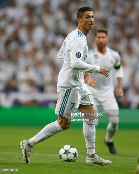 Cristiano Ronaldo of Real Madrid during the UEFA Champions League group H match between Real Madrid and Tottenham Hotspur at Estadio Santiago...