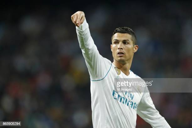Cristiano Ronaldo of Real Madrid during the UEFA Champions League group H match between Real Madrid and Tottenham Hotspur on October 17 2017 at the...