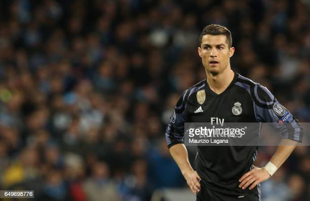 Cristiano Ronaldo of Real Madrid during the UEFA Champions League Round of 16 second leg match between SSC Napoli and Real Madrid CF at Stadio San...