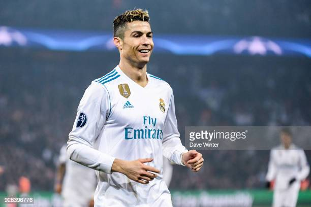 Cristiano Ronaldo of Real Madrid during the UEFA Champions League Round of 16 Second Leg match between Paris Saint Germain and Real Madrid at Parc...