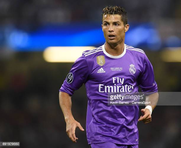 Cristiano Ronaldo of Real Madrid during the UEFA Champions League Final match between Juventus and Real Madrid at National Stadium of Wales on June 3...