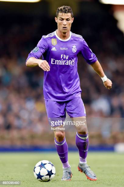 Cristiano Ronaldo of Real Madrid during the UEFA Champions League Final match between Real Madrid and Juventus at the National Stadium of Wales...