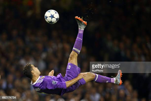 Cristiano Ronaldo of Real Madrid during the UEFA Champions League Final between Juventus and Real Madrid at National Stadium of Wales on June 3 2017...