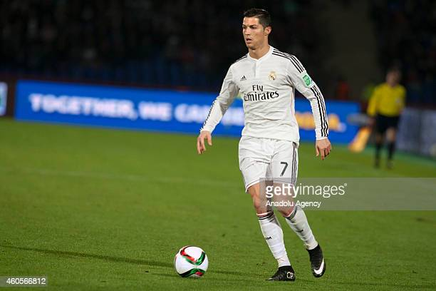 Cristiano Ronaldo of Real Madrid in action during the 2014 FIFA Club World Cup semi final football match between Cruz Azul and Real Madrid at the...