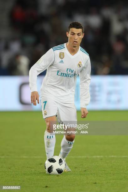 Cristiano Ronaldo of Real Madrid in action during the FIFA Club World Cup UAE 2017 final match between Gremio and Real Madrid CF at Zayed Sports City...