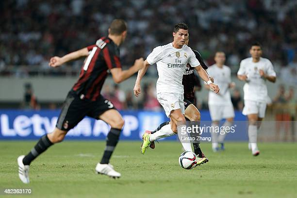 Cristiano Ronaldo of Real Madrid in action during the International Champions Cup match between Real Madrid and AC Milan at Shanghai Stadium on July...