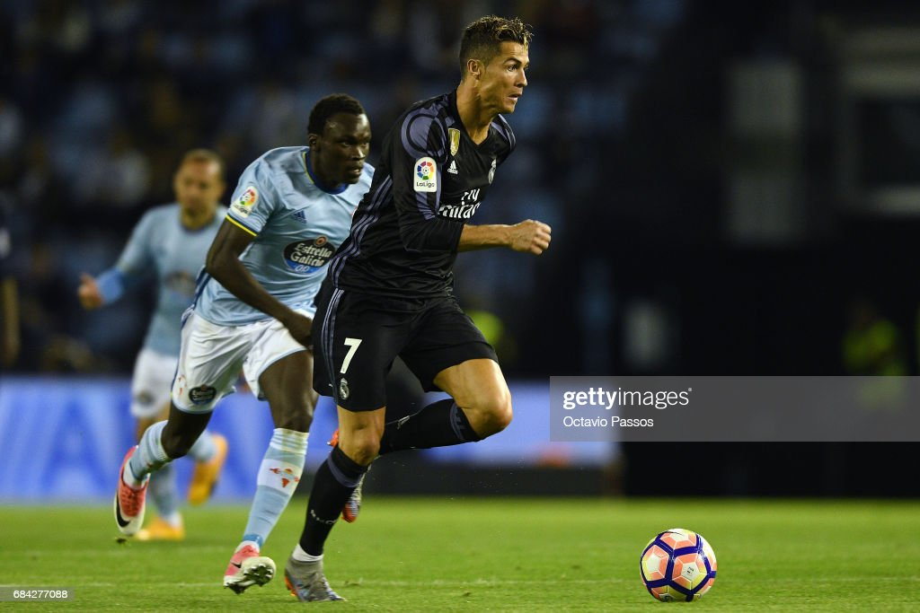 c33a08136 Cristiano Ronaldo of Real Madrid in action during the La Liga match ...