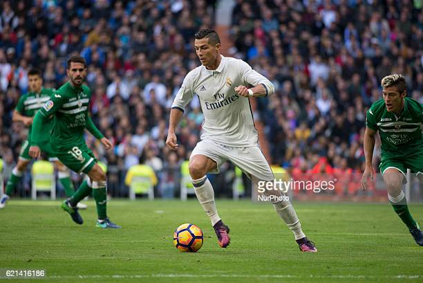 Cristiano Ronaldo of Real Madrid in action during the Liga match between Real Madrid CF and Leganes on November 6 2016 in Madrid Spain