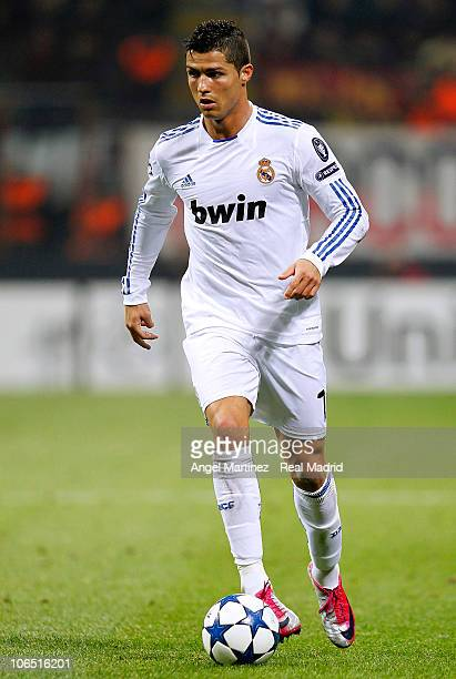 Cristiano Ronaldo of Real Madrid in action during the UEFA Champions League Group G match between AC Milan and Real Madrid at Stadio Giuseppe Meazza...