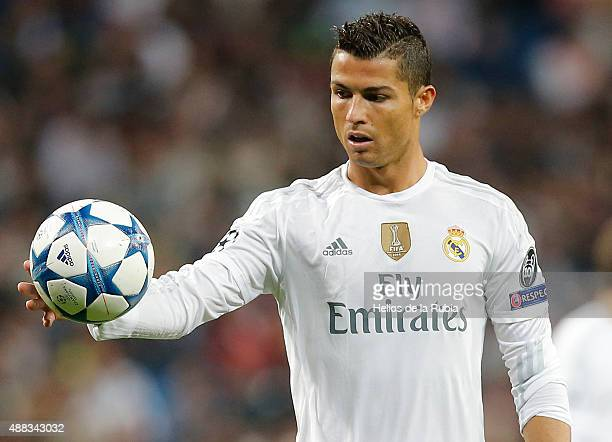 Cristiano Ronaldo of Real Madrid in action during the UEFA Champions League Group A match between Real Madrid CF and FC Shakhtar Donetsk at Estadio...