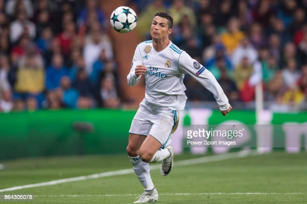 Cristiano Ronaldo of Real Madrid in action during the UEFA Champions League 201718 match between Real Madrid and Tottenham Hotspur FC at Estadio...