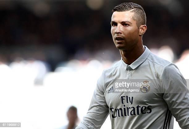 Cristiano Ronaldo of Real Madrid is seen during the La Liga soccer match between Real Madrid CF vs Eibar at the Santiago Bernabeu stadium in Madrid...