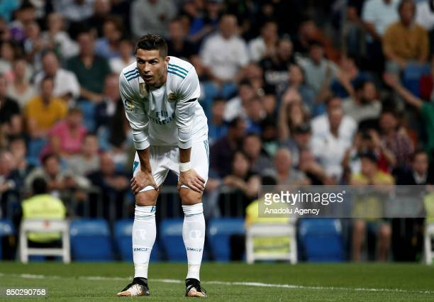 Cristiano Ronaldo of Real Madrid is seen during the Spanish La Liga match between Real Madrid and Real Betis at Santiago Bernabeu Stadium in Madrid...