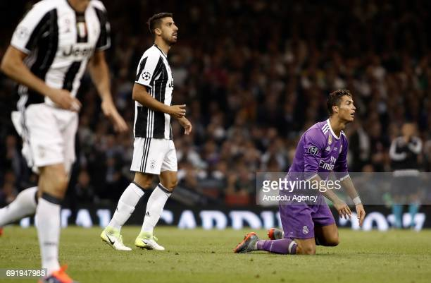 Cristiano Ronaldo of Real Madrid is seen during UEFA Champions League Final soccer match between Juventus and Real Madrid at Millennium Stadium in...