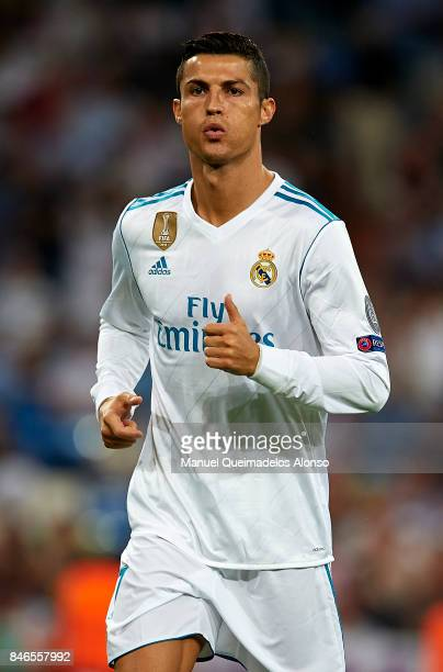 Cristiano Ronaldo of Real Madrid reacts during the UEFA Champions League group H match between Real Madrid and APOEL Nikosia at Estadio Santiago...