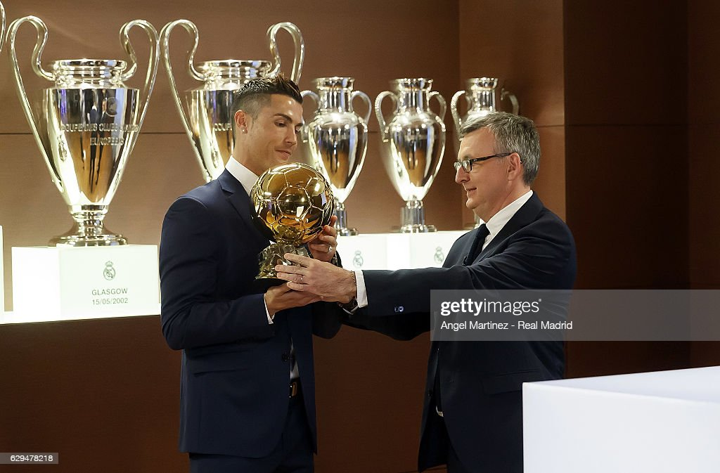 Cristiano Ronaldo Announced as Winner of the Ballon D'Or 2016 : News Photo