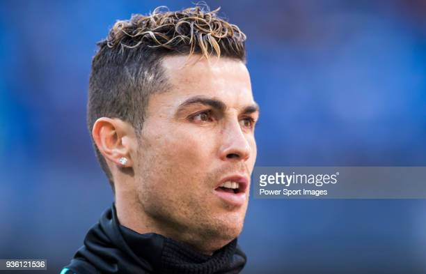 Cristiano Ronaldo of Real Madrid warms up prior to the La Liga 201718 match between Real Madrid and Deportivo Alaves at Santiago Bernabeu Stadium on...