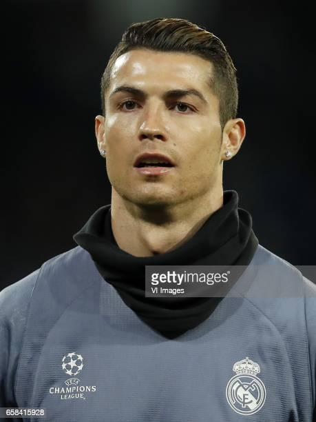 Cristiano Ronaldo of Real Madridduring the UEFA Champions League round of 16 match between SSC Napoli and Real Madrid on March 07 2017 at the Stadio...