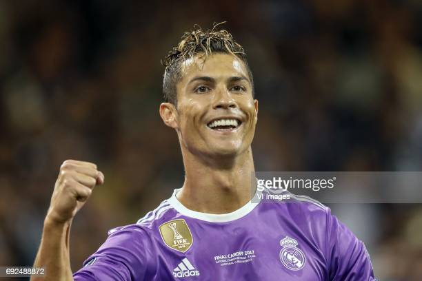 Cristiano Ronaldo of Real Madridduring the UEFA Champions League final match between Juventus FC and Real Madrid on June 3 2017 at the Millennium...