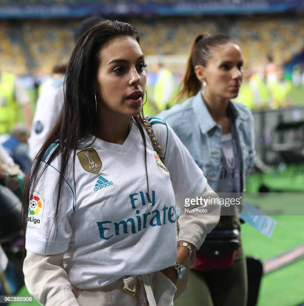 Cristiano Ronaldo of Real Madrid's girlfriend Georgina Rodriguez looks on after the UEFA Champions League Final between Real Madrid and Liverpool at...