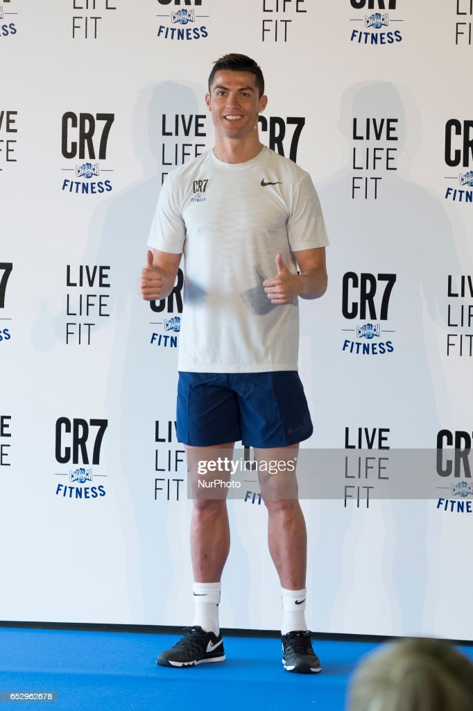 Cristiano Ronaldo presents CR7 Fitness Gyms on March 13, 2017 in Madrid, Spain.