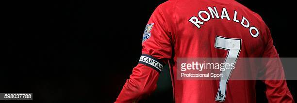Cristiano Ronaldo wearing the captain's armband during the Barclays FA Premier League match between Manchester United and Bolton Wanderers at Old...