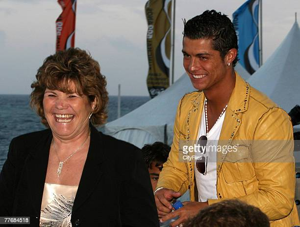 Cristiano Ronaldo with his mother.