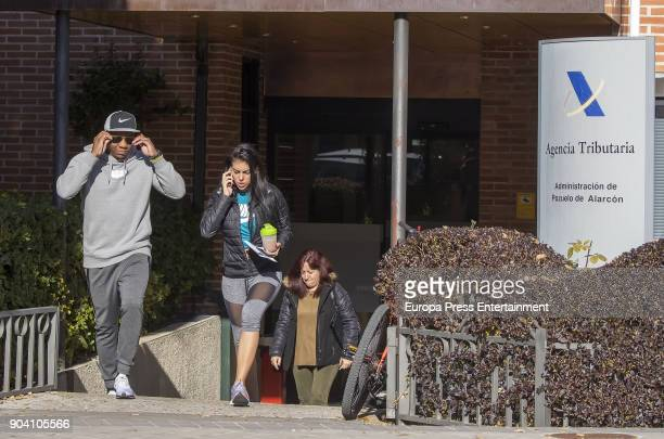Cristiano Ronaldo's girlfriend Georgina Rodriguez is seen laving Tax Office on December 20 2017 in Madrid Spain