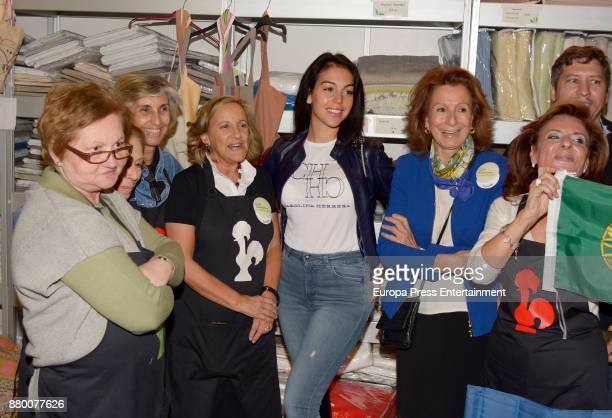 Cristiano Ronaldo's girlfriend Georgina Rodriguez visits Portugal stand at the charity market 'Rastrillo Nuevo Futuro' on November 24 2017 in Madrid...