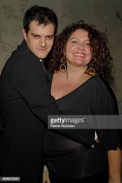 Cristiano Scognamiglio and Aida Turturro attend FARAONE MENNELLA 5th Year Anniversary Party at Bergdorf Goodman on November 28 2007 in New York City