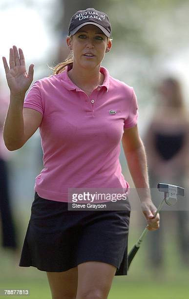 Cristie Kerr in action during the second round of the John Q Hammons Hotel Classic at the Cedar Ridge Country Club in Broken Arrow Oklahoma on...