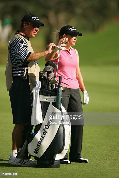 Cristie Kerr pulls a club during the third round of ADT Championship at the Trump International Golf Club on November 20 2004 in West Palm Beach...
