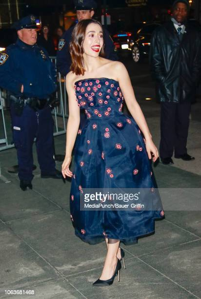 Cristin Milioti is seen at The Museum of Modern Art Film Benefit Tribute to Martin Scorsese on November 19 2018 in New York City