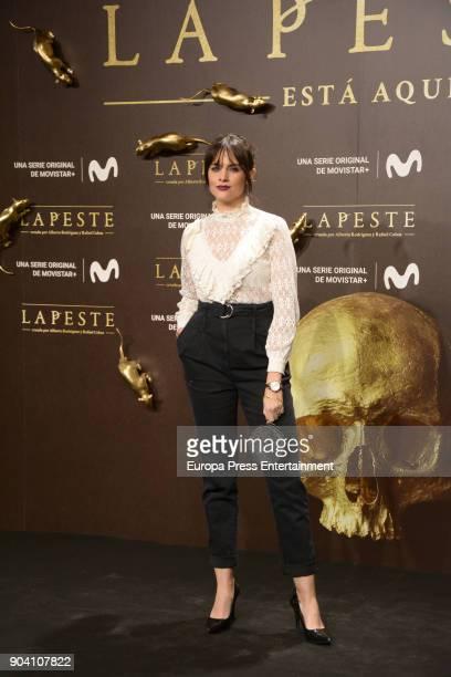 Cristina Abad attend 'La Peste' premiere at Callao Cinema on January 11 2018 in Madrid Spain