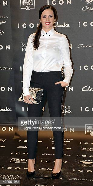 Cristina Abad attends fashion 'ICON Awards, Men of the Year' on October 15, 2015 in Madrid, Spain.