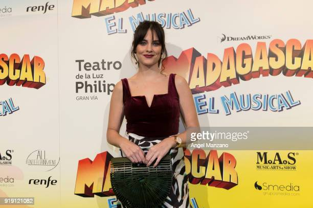 Cristina Abad attends 'Madagascar The Musical' Premiere in Madrid on February 16 2018 in Madrid Spain