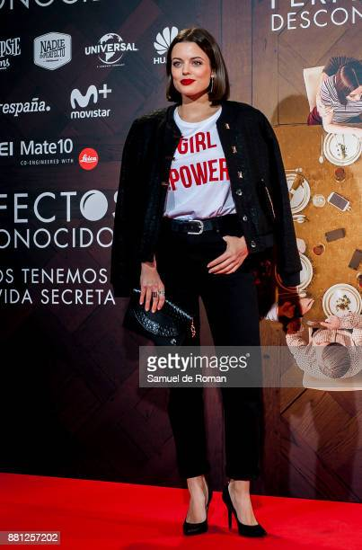 Cristina Abad attends 'Perfectos Desconocidos' premiere at the Capitol cinema on November 28, 2017 in Madrid, Spain.