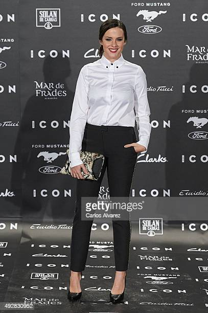 """Cristina Abad attends the ICON Magazine Fashion awards at the """"Casa de Velazquez"""" on October 15, 2015 in Madrid, Spain."""