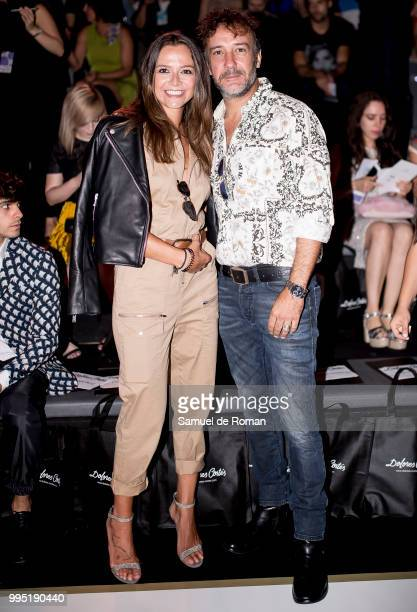 Cristina Alarcon and Jose Luis Garcia Perez attend the front row of Dolores Cortes show during Mercedes Benz Fashion Week Madrid on July 10 2018 in...